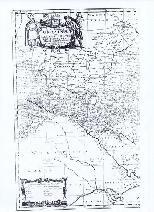 Карта Украины Г.Л. де Боплана