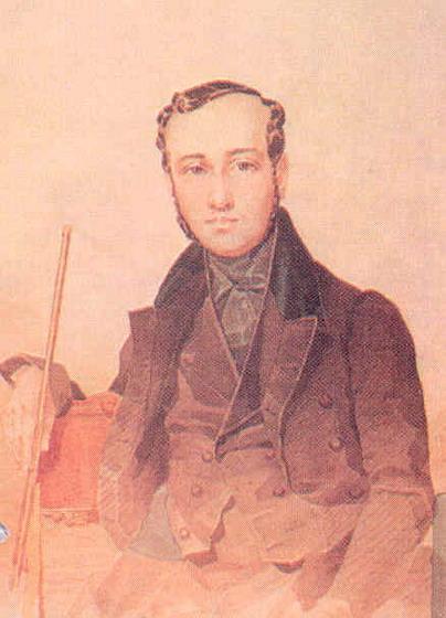 Евгений Павлович Гребенка - Акварель Т.Г.Шевченко 1837