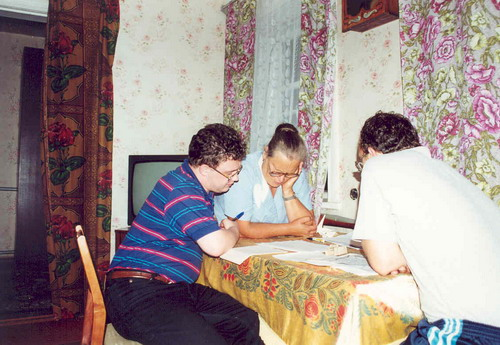 Прасковья Андреевна Радин (в девичестве Петриченко) рассказывает о своих родителях и истории села.