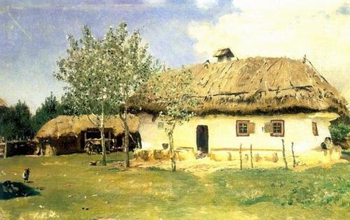 Украинская хата - автор И.Е.Репин